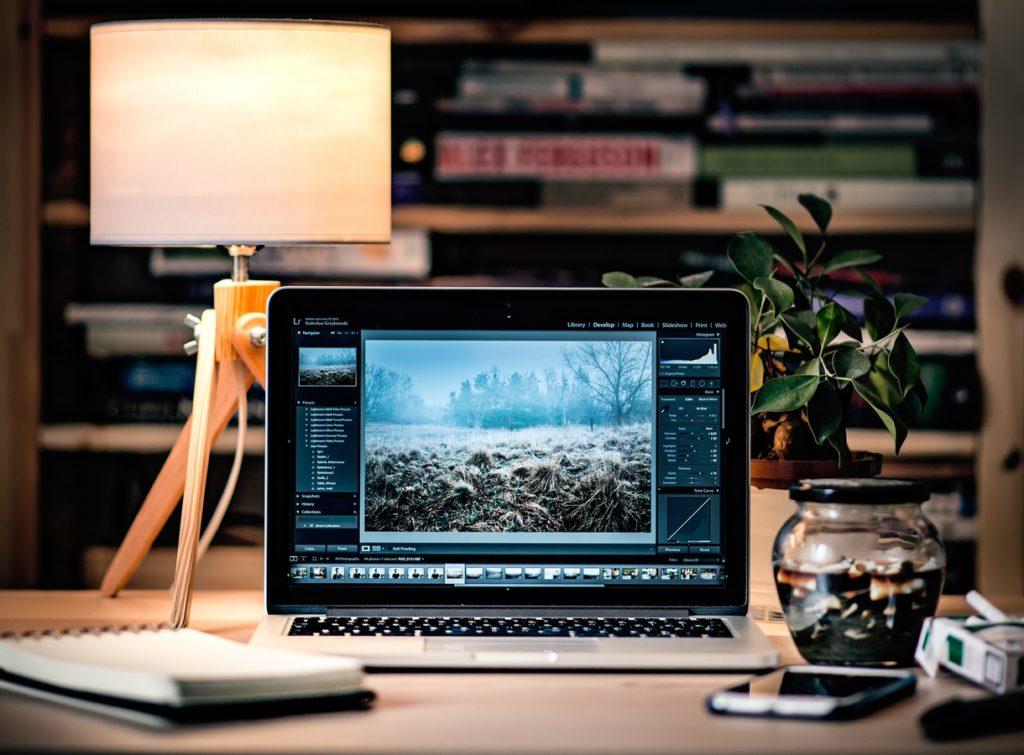 laptop desktop work